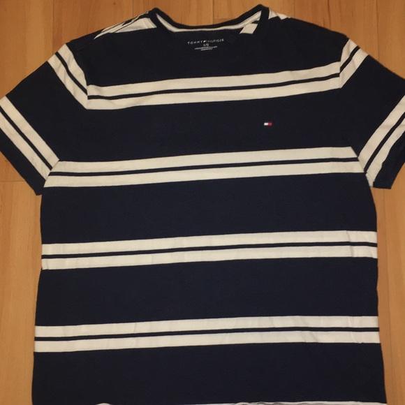 b931fcfa62 Tommy Hilfiger Shirts | Striped Tshirt Mens Sz L | Poshmark